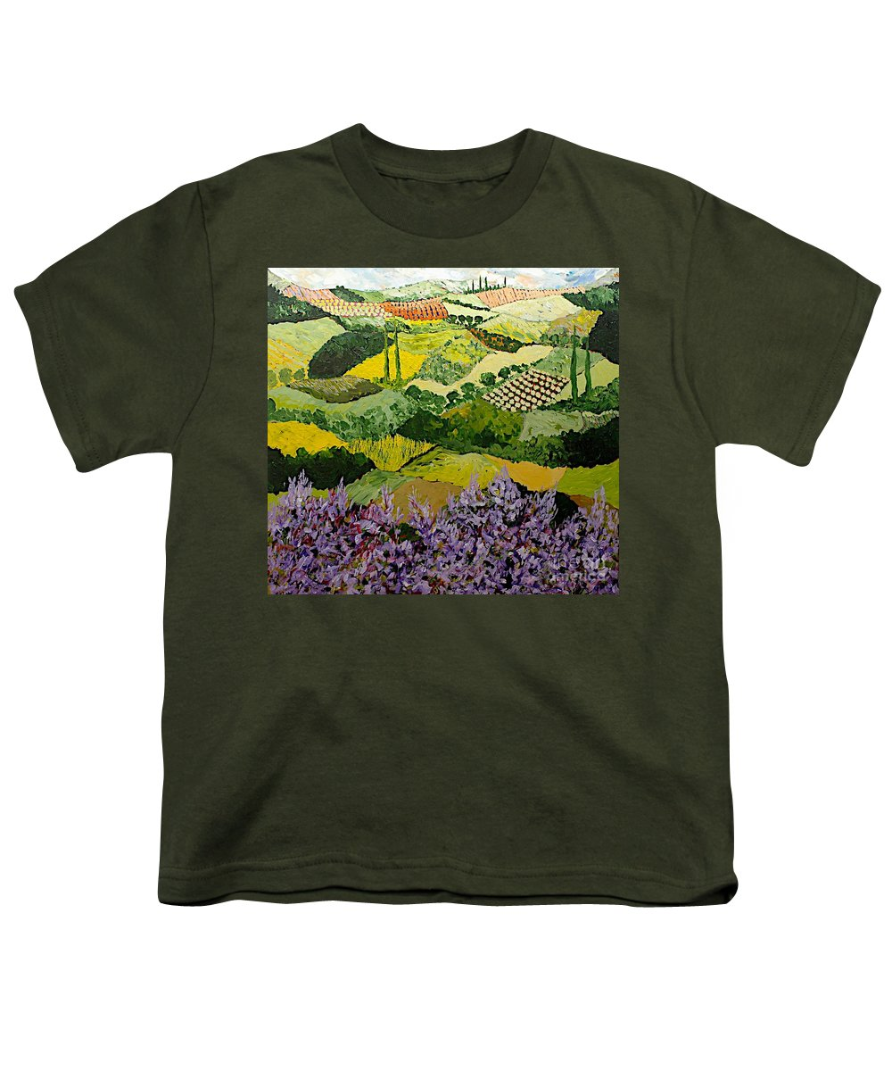 Landscape Youth T-Shirt featuring the painting High Ridge by Allan P Friedlander