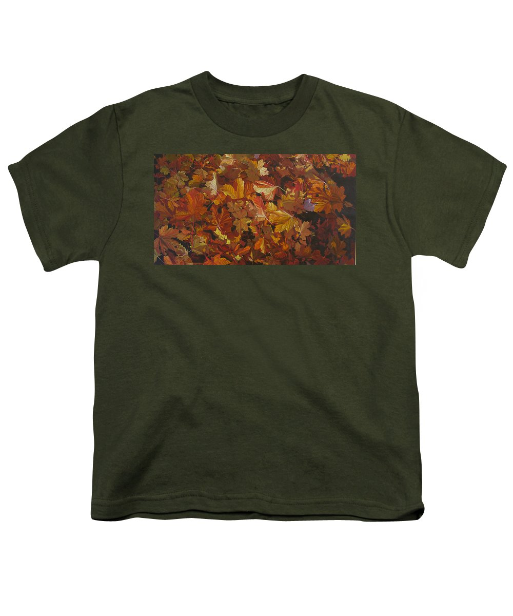 Fall Youth T-Shirt featuring the painting Last Fall In Monroe by Thu Nguyen
