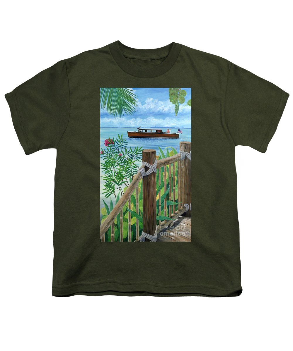 Island Youth T-Shirt featuring the painting Little Palm Island by Danielle Perry