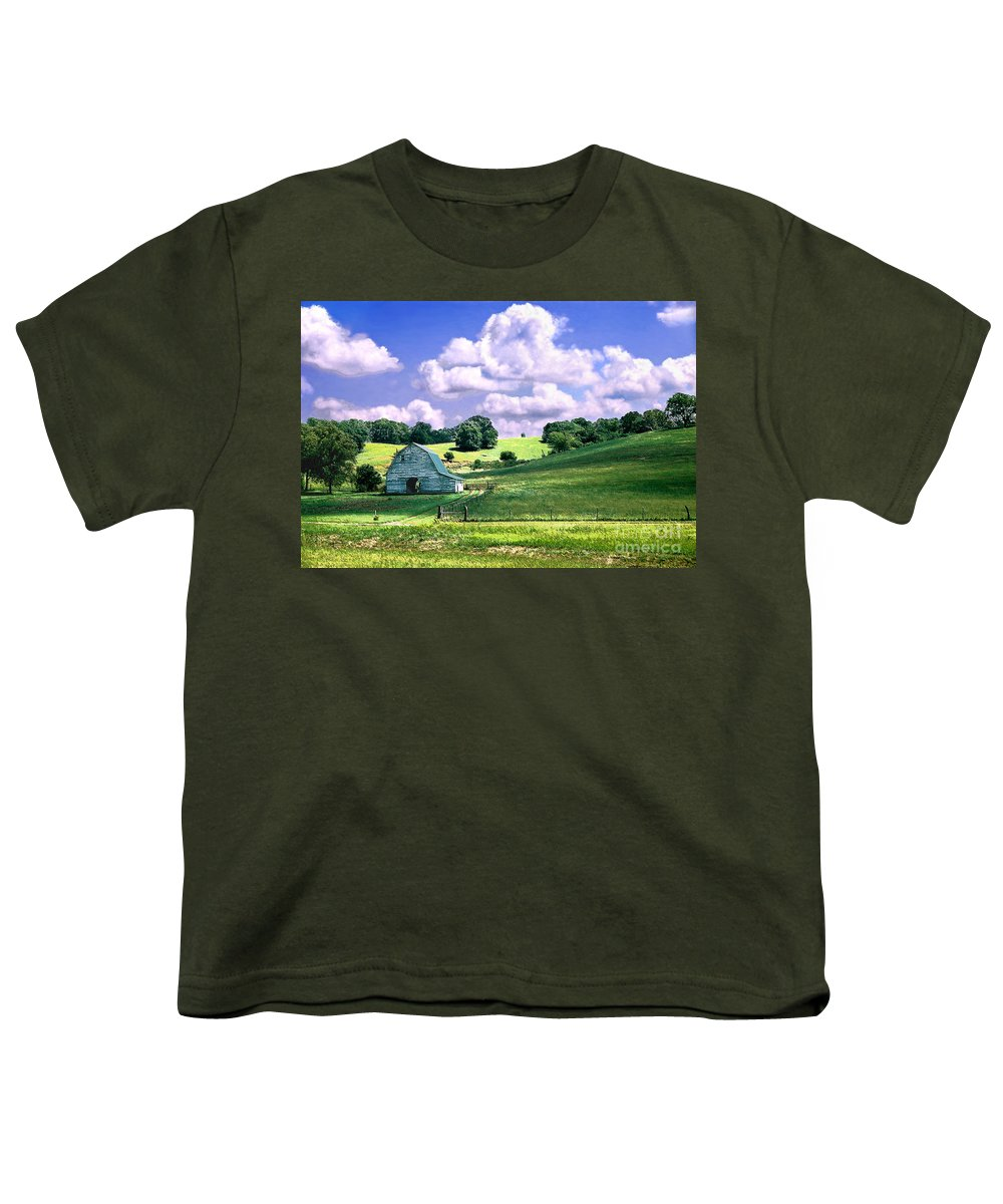 Landscape Youth T-Shirt featuring the photograph Missouri River Valley by Steve Karol