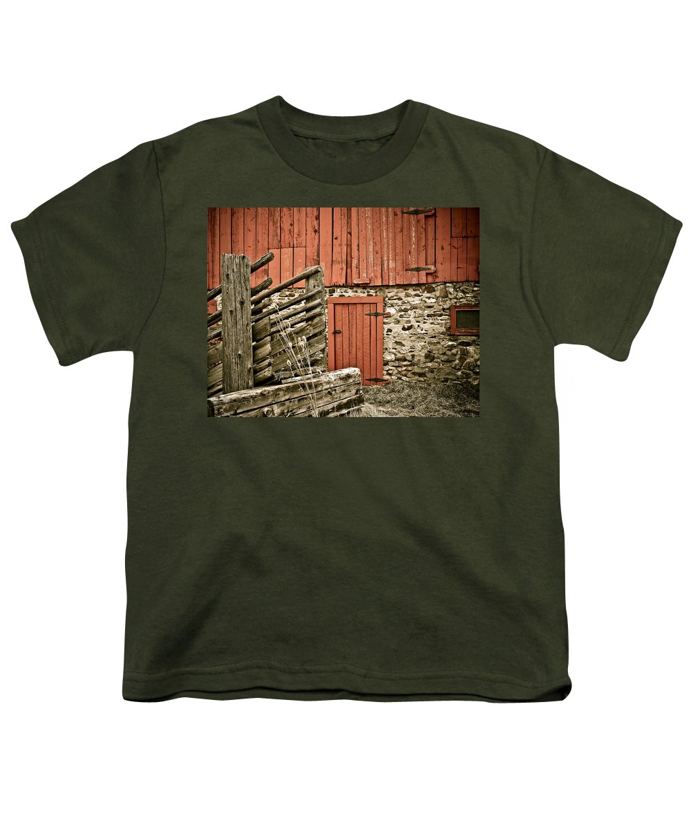 Old Youth T-Shirt featuring the photograph Old Wood by Marilyn Hunt