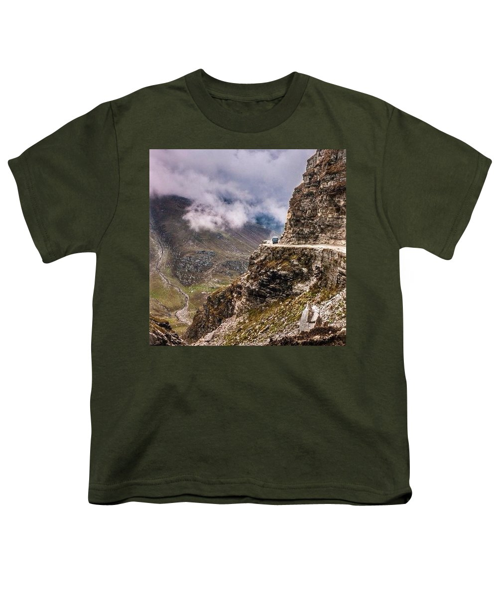 Mountains Youth T-Shirt featuring the photograph Our Bus Journey Through The Himalayas by Aleck Cartwright