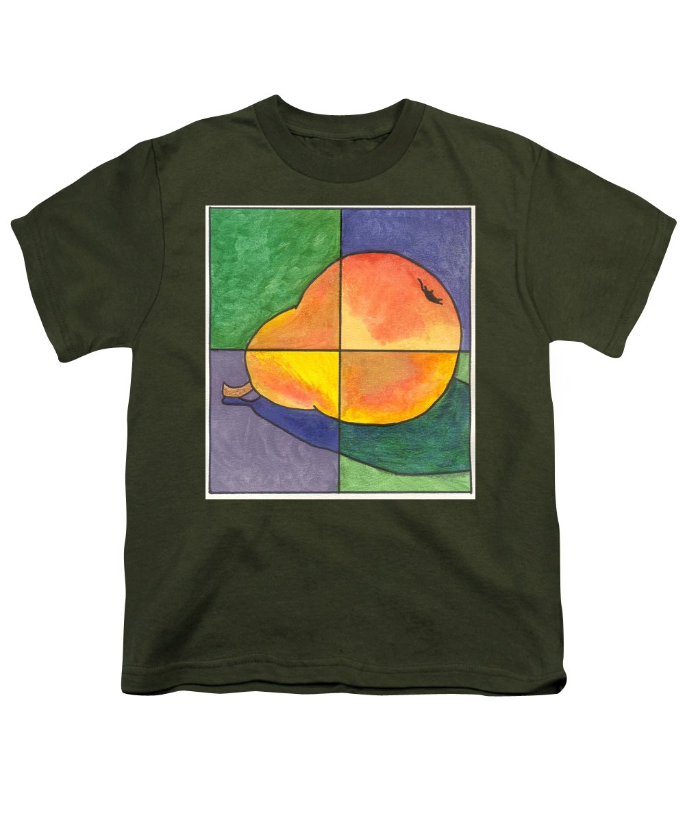 Pear Youth T-Shirt featuring the painting Pear II by Micah Guenther