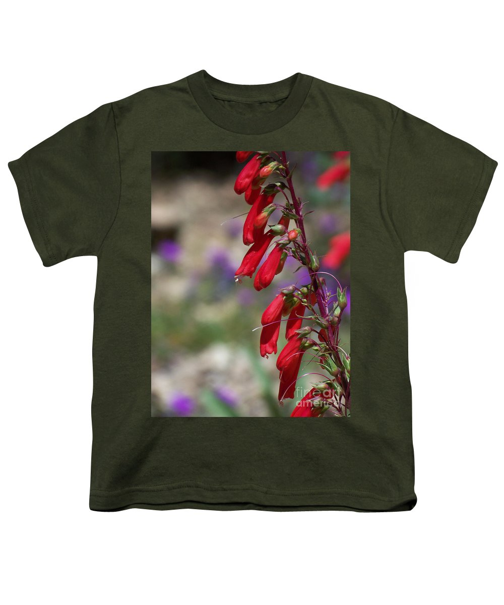 Flowers Youth T-Shirt featuring the photograph Penstemon by Kathy McClure