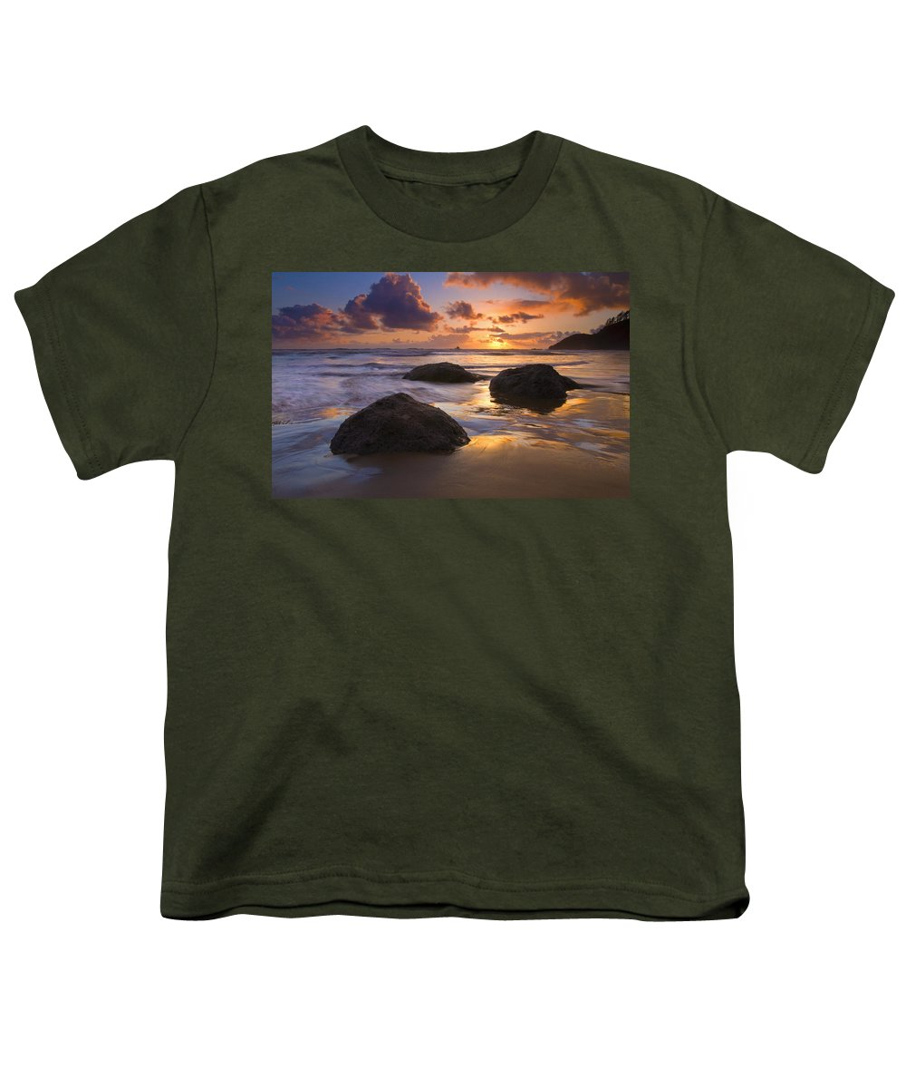 Sunset Youth T-Shirt featuring the photograph Pieces Of Eight by Mike Dawson
