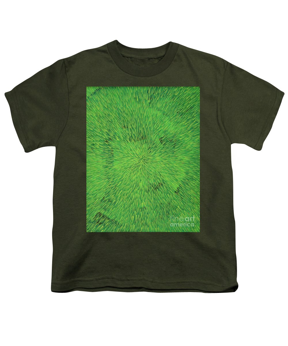 Abstract Youth T-Shirt featuring the painting Radiation Green by Dean Triolo