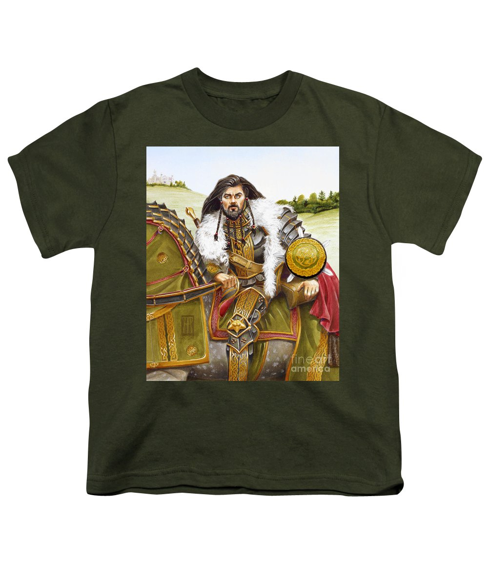 Fine Art Youth T-Shirt featuring the painting Sir Marhaus by Melissa A Benson