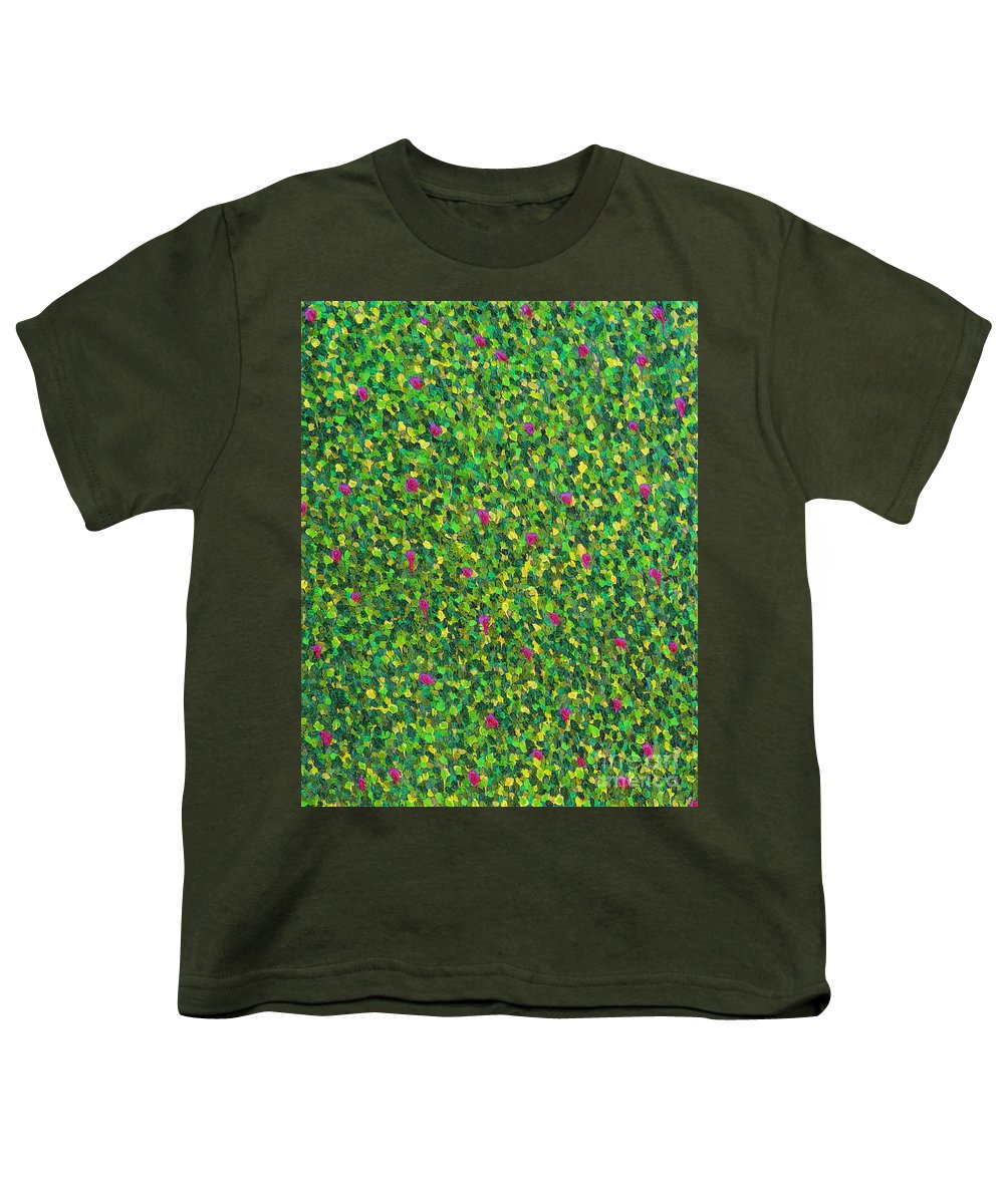 Abstract Youth T-Shirt featuring the painting Soft Green With Pink by Dean Triolo