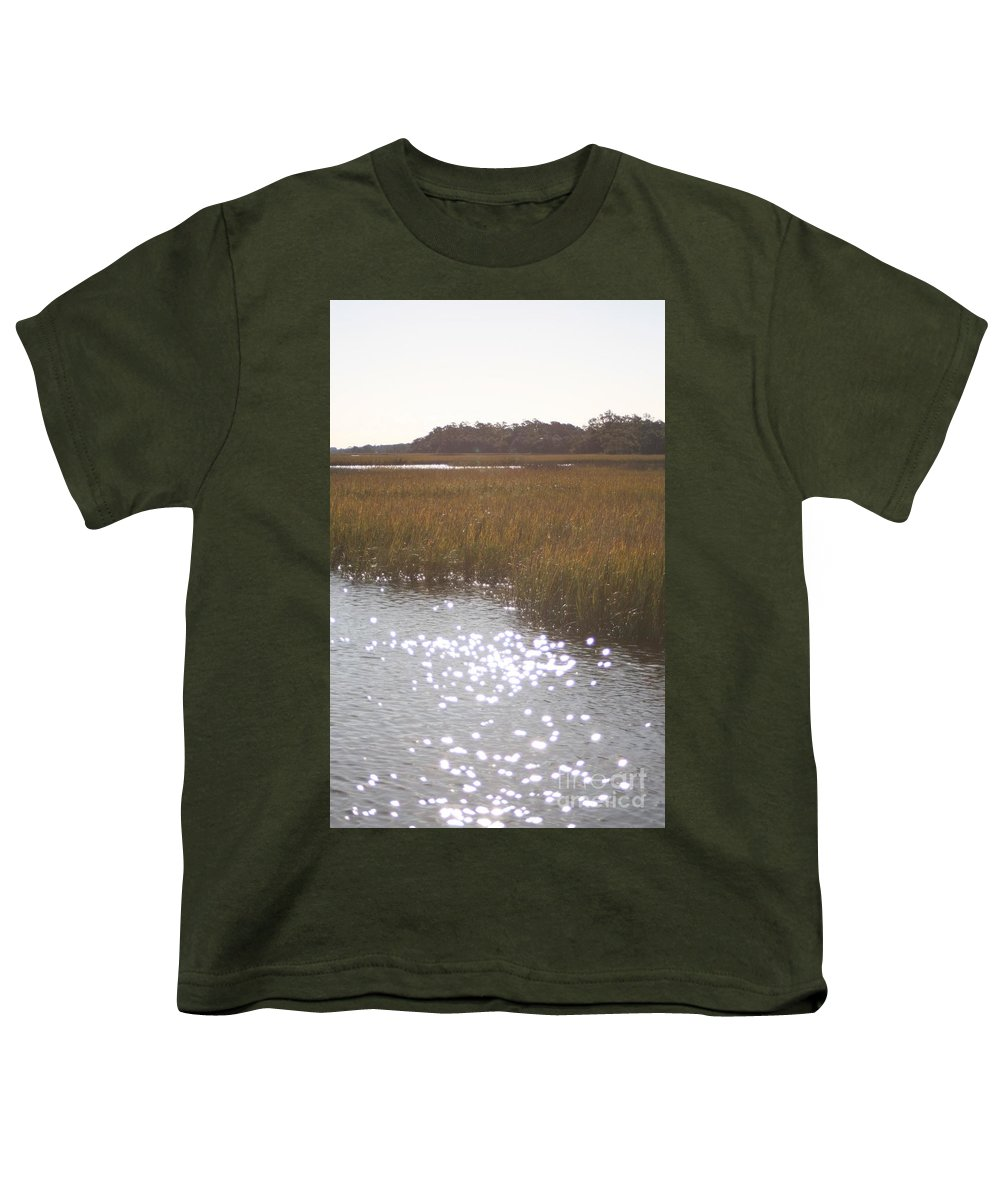 Marsh Youth T-Shirt featuring the photograph Sparkling Marsh by Nadine Rippelmeyer