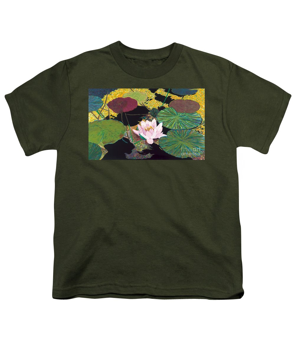 Landscape Youth T-Shirt featuring the painting Steamy Pond by Allan P Friedlander