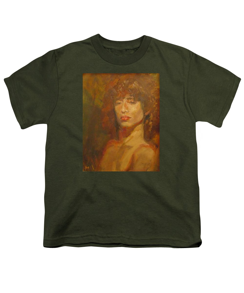 Portrait Youth T-Shirt featuring the painting Tracy by Irena Jablonski