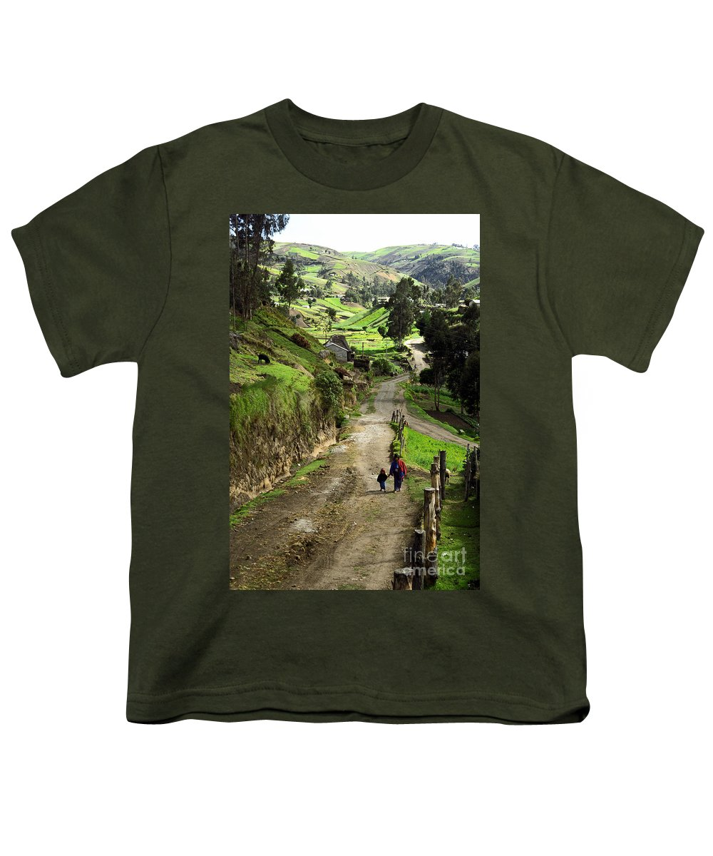 Ecuador Youth T-Shirt featuring the photograph View Of Lupaxi by Kathy McClure