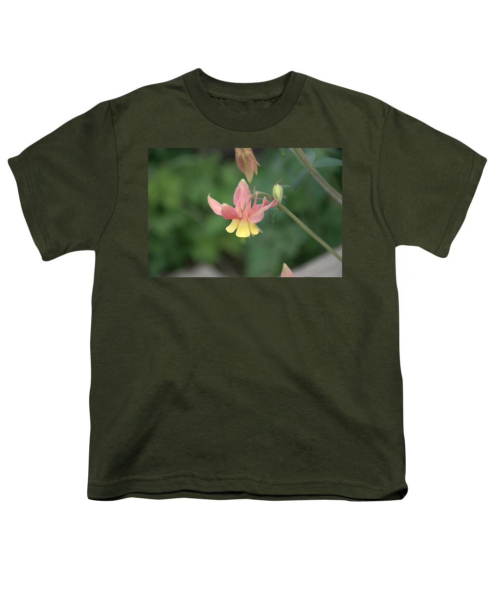 Flower Youth T-Shirt featuring the photograph Yellow Columbine by Frank Madia