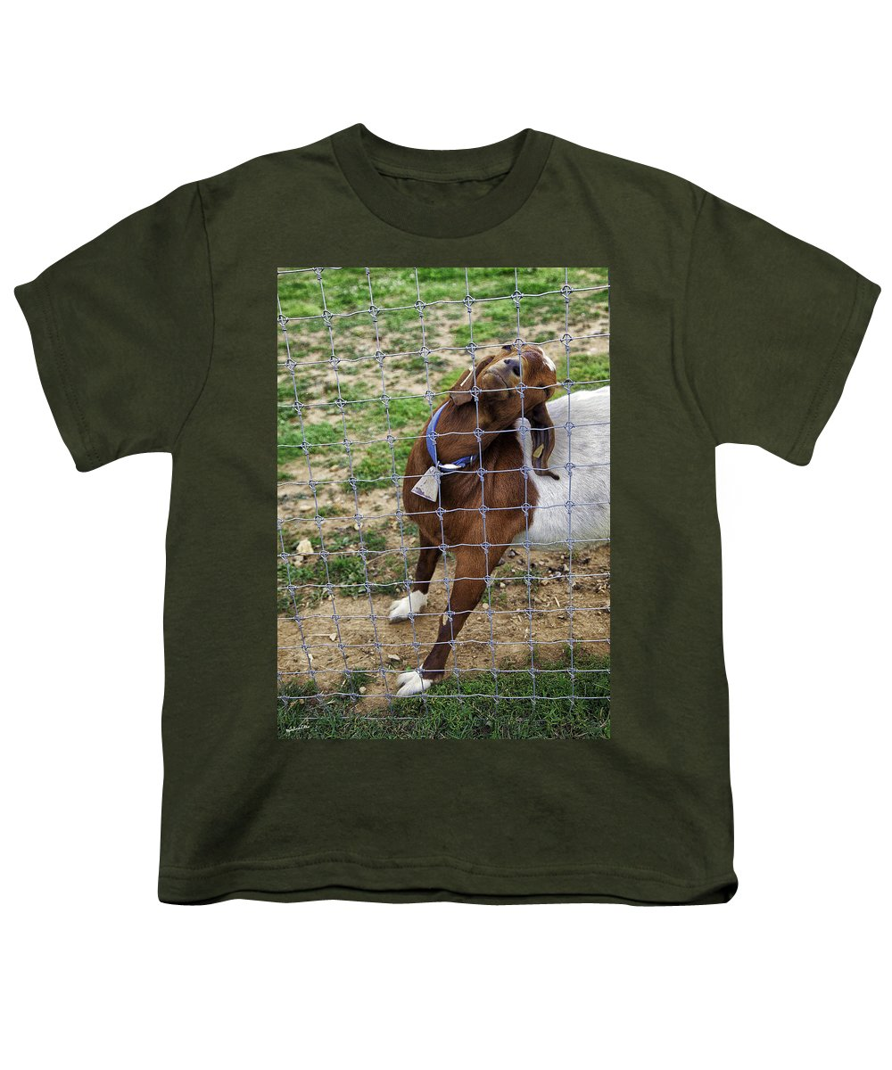Billy Goat Youth T-Shirt featuring the photograph Please Exonerate Me 2 - Billy Goat by Madeline Ellis