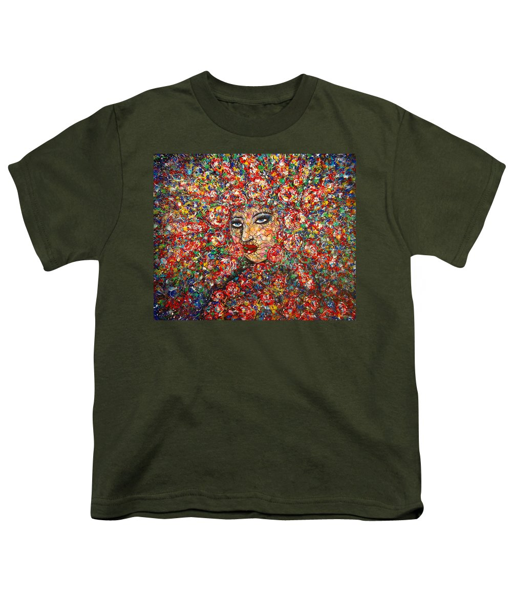 Woman Youth T-Shirt featuring the painting  Gentle Beautiful Flower by Natalie Holland