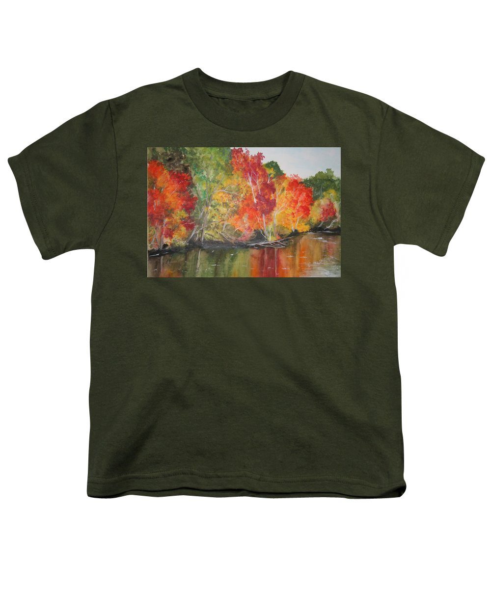 Autumn Youth T-Shirt featuring the painting Autumn Splendor by Jean Blackmer