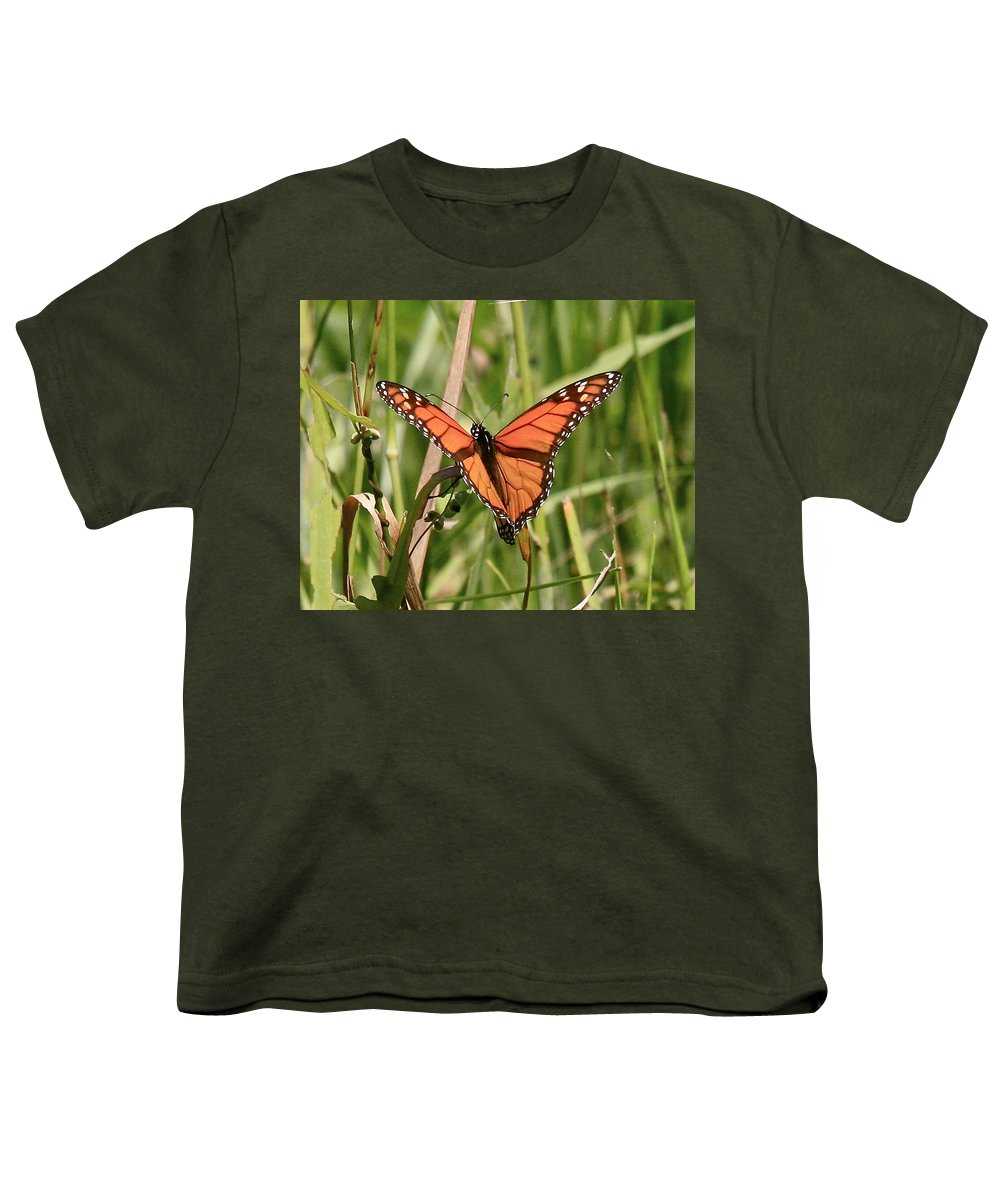 Butterfly Youth T-Shirt featuring the photograph Drying My Wings by Robert Pearson