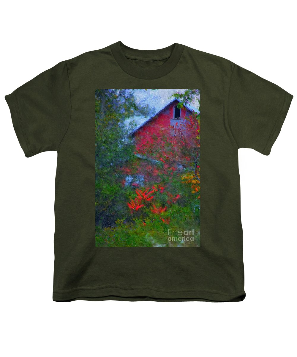 Digital Photo Youth T-Shirt featuring the photograph The Barn by David Lane