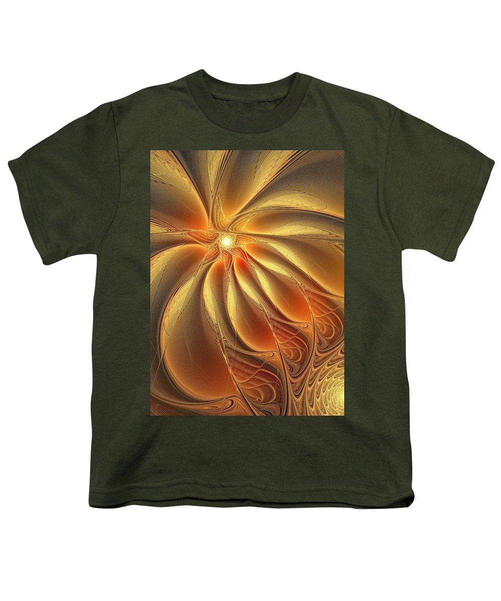 Digital Art Youth T-Shirt featuring the digital art Warm Feelings by Amanda Moore