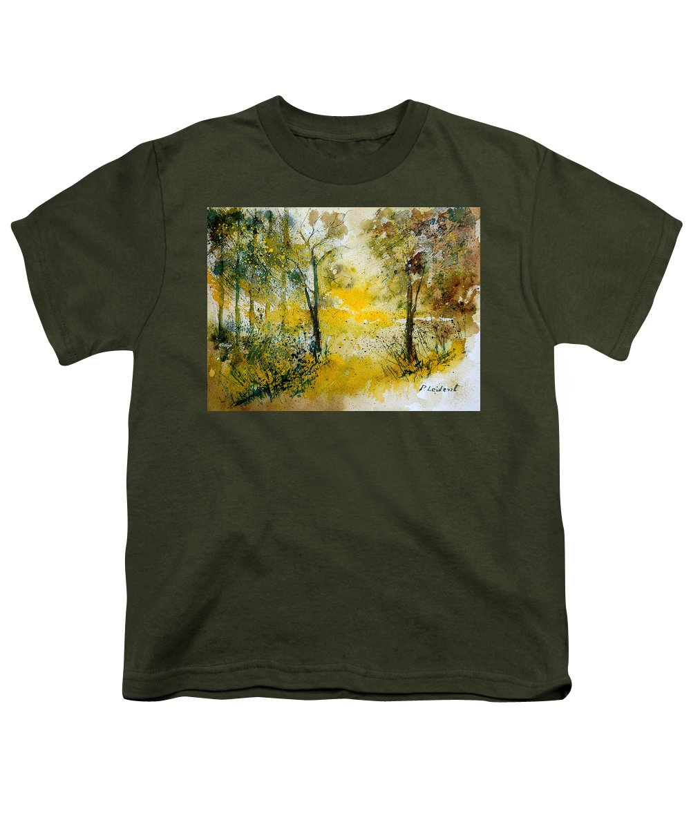 Tree Youth T-Shirt featuring the painting Watercolor 210108 by Pol Ledent