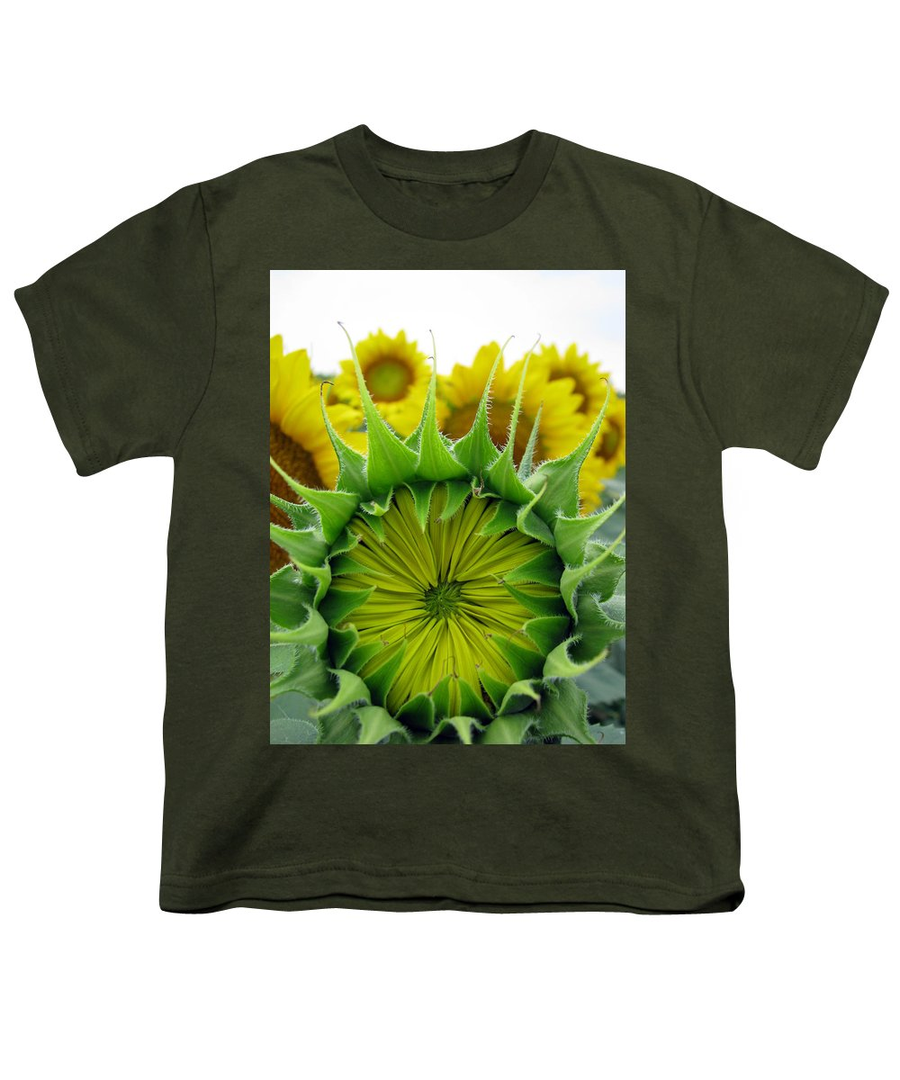 Sunflwoers Youth T-Shirt featuring the photograph Sunflower Series by Amanda Barcon
