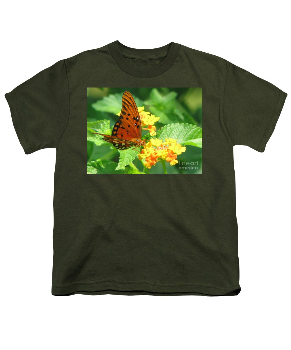 Butterfly Youth T-Shirt featuring the photograph Butterfly by Amanda Barcon