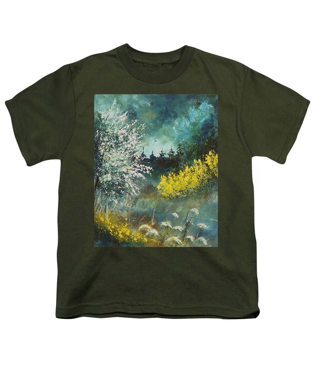 Spring Youth T-Shirt featuring the painting Spring by Pol Ledent