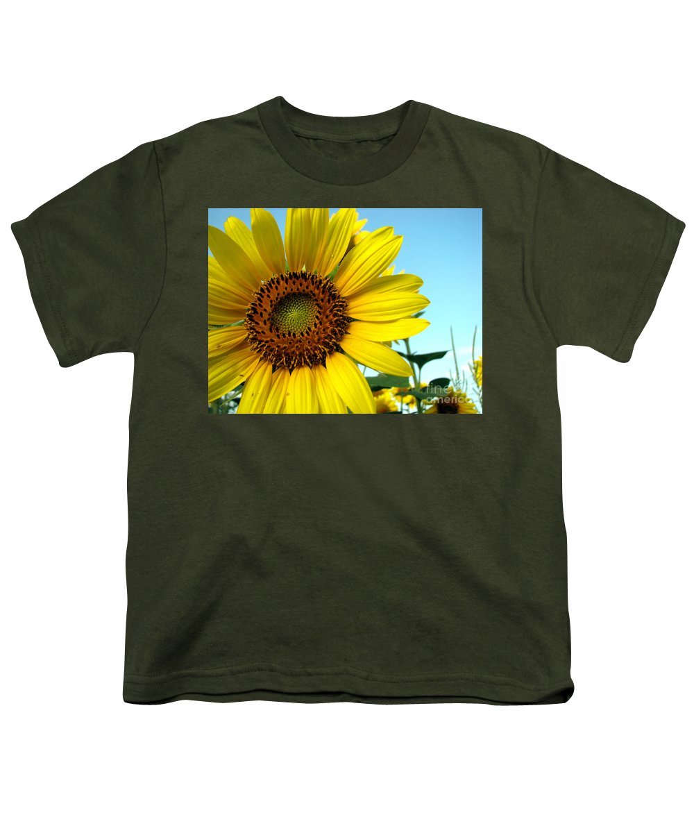 Sunflowers Youth T-Shirt featuring the photograph Sunflower Series by Amanda Barcon