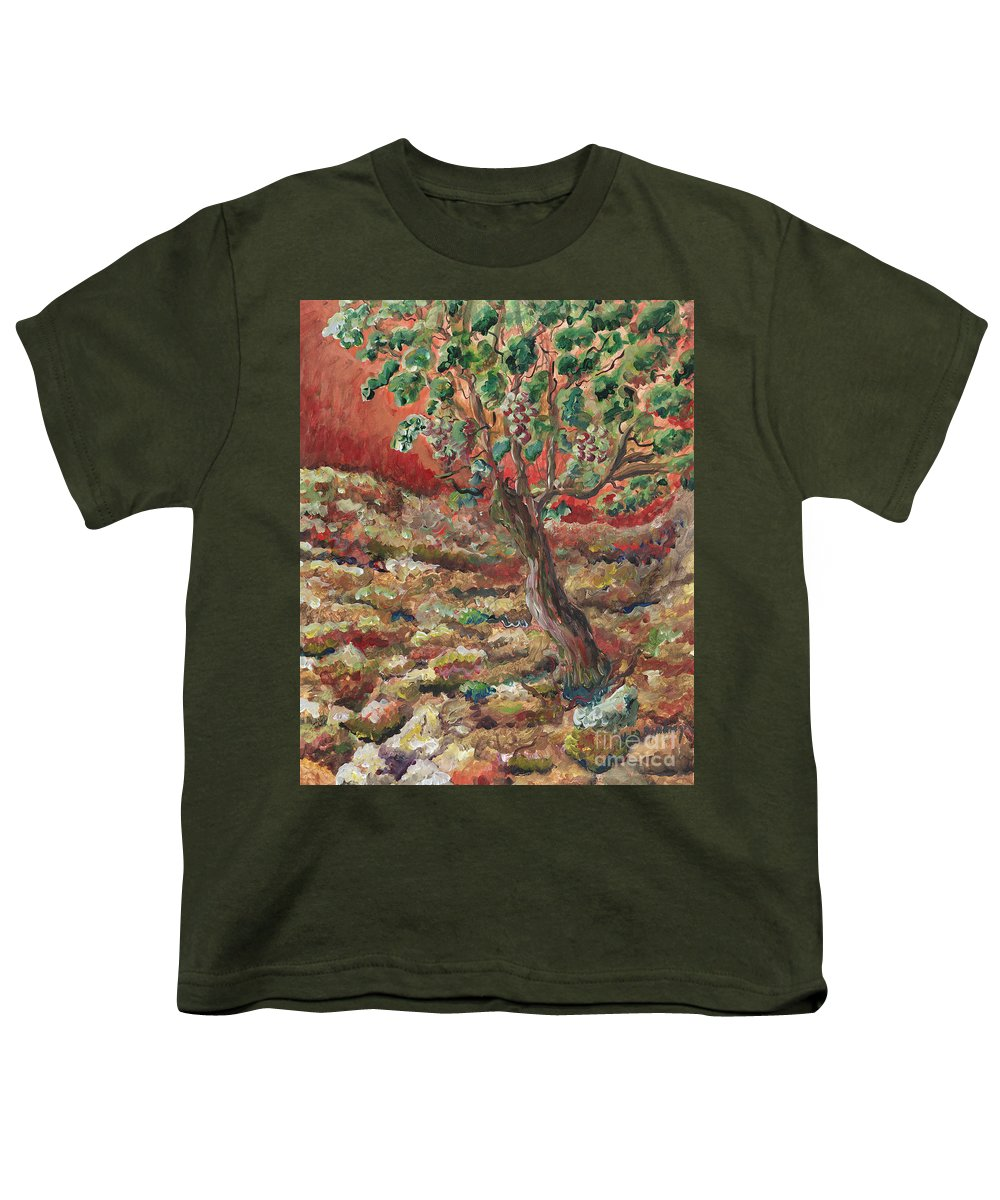 Abide Youth T-Shirt featuring the painting Abide by Nadine Rippelmeyer
