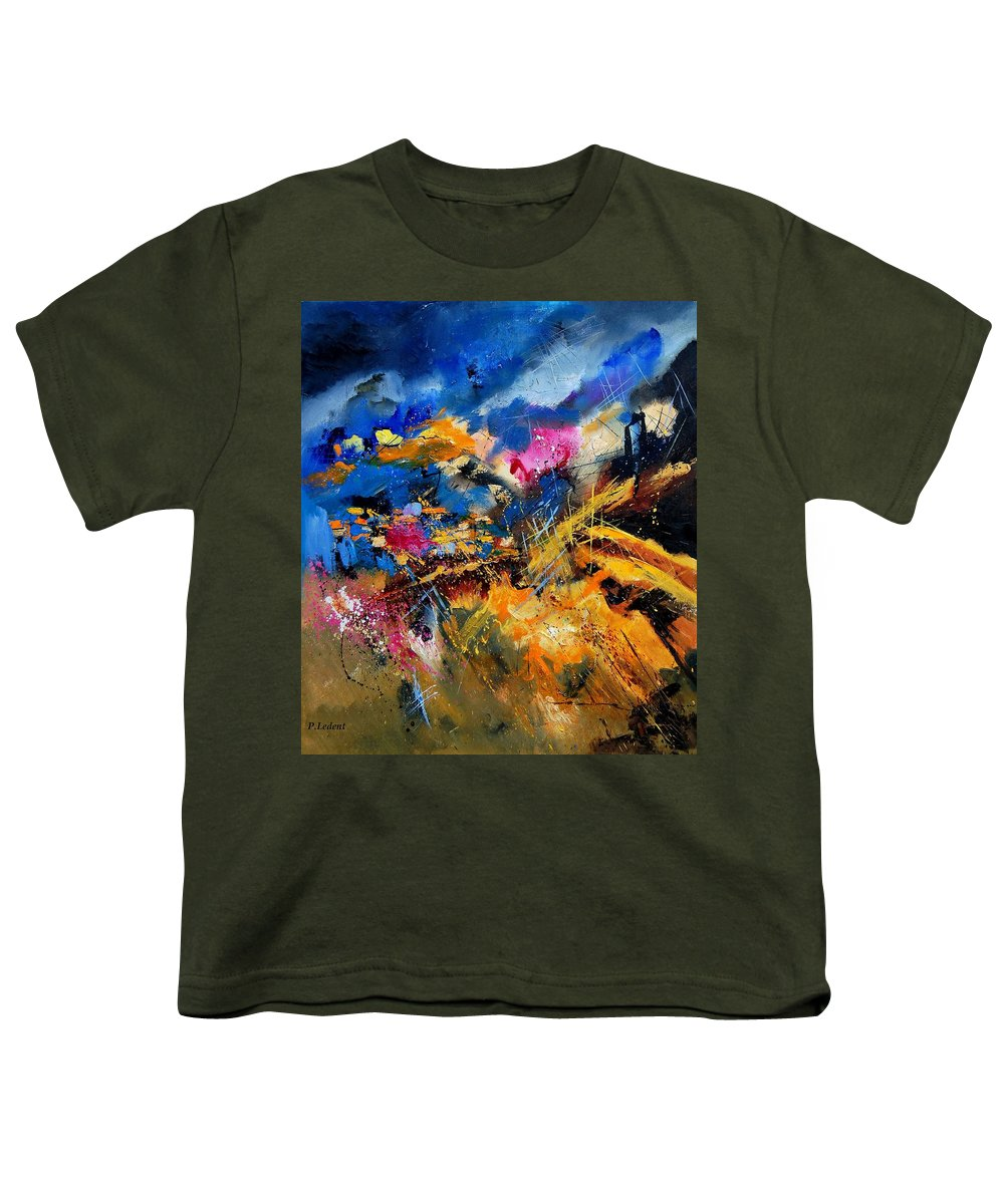 Abstract Youth T-Shirt featuring the painting Abstract 7808082 by Pol Ledent
