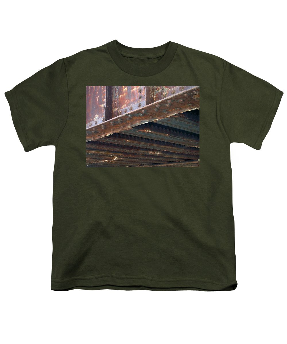Urban Youth T-Shirt featuring the photograph Abstract Rust 4 by Anita Burgermeister