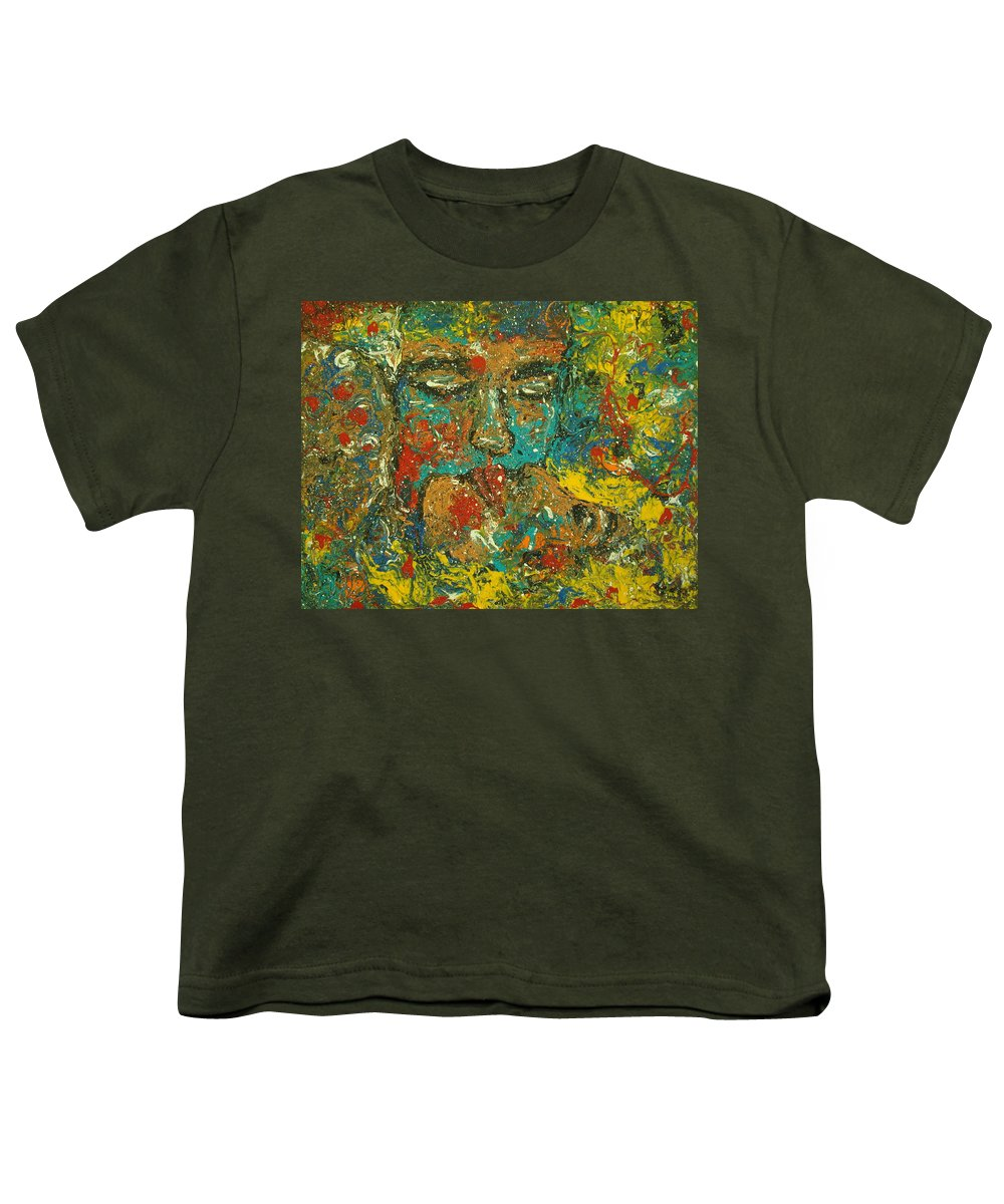 Romantic Youth T-Shirt featuring the painting Allure Of Love by Natalie Holland