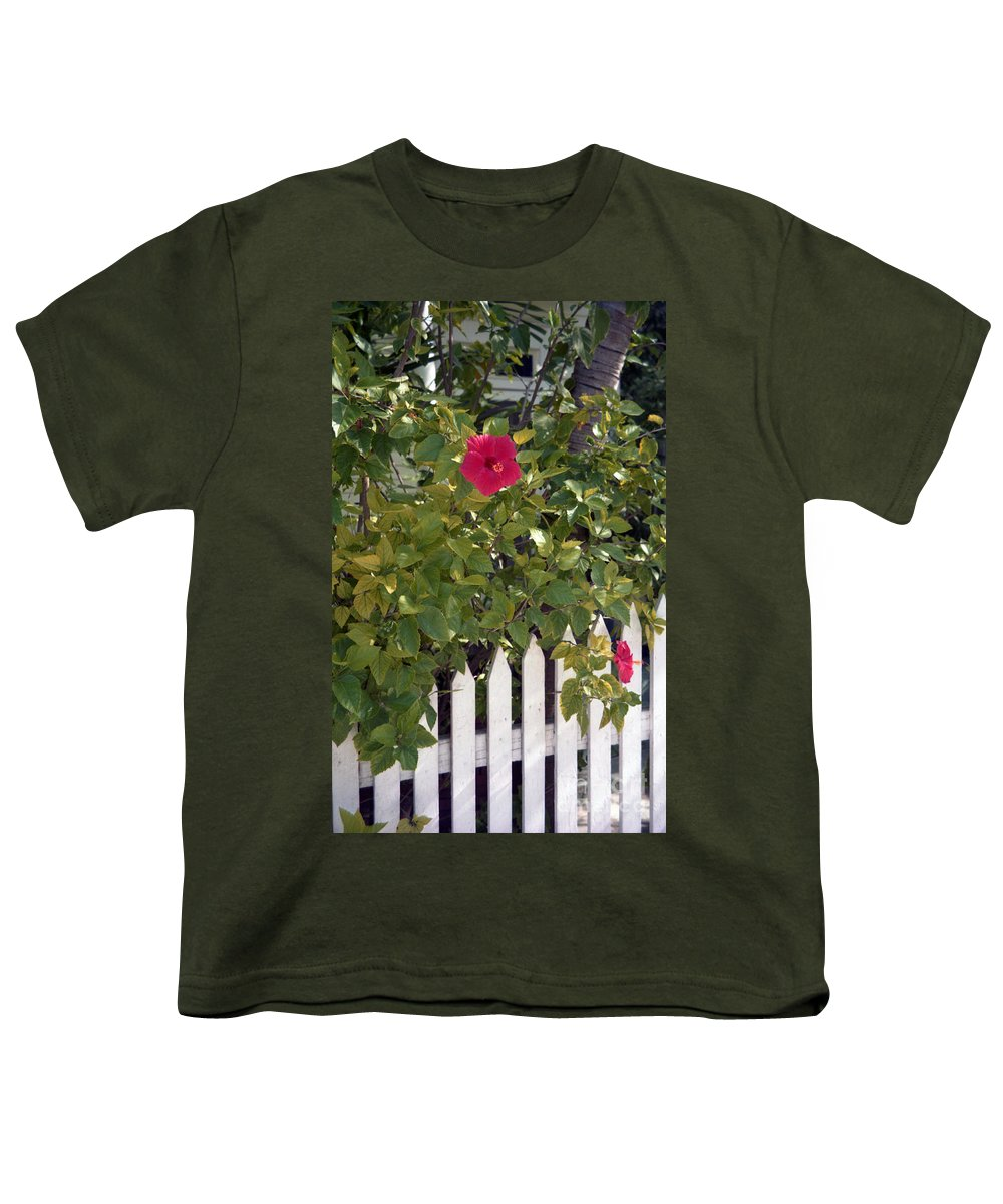 Azelea Youth T-Shirt featuring the photograph Along The Picket Fence by Richard Rizzo