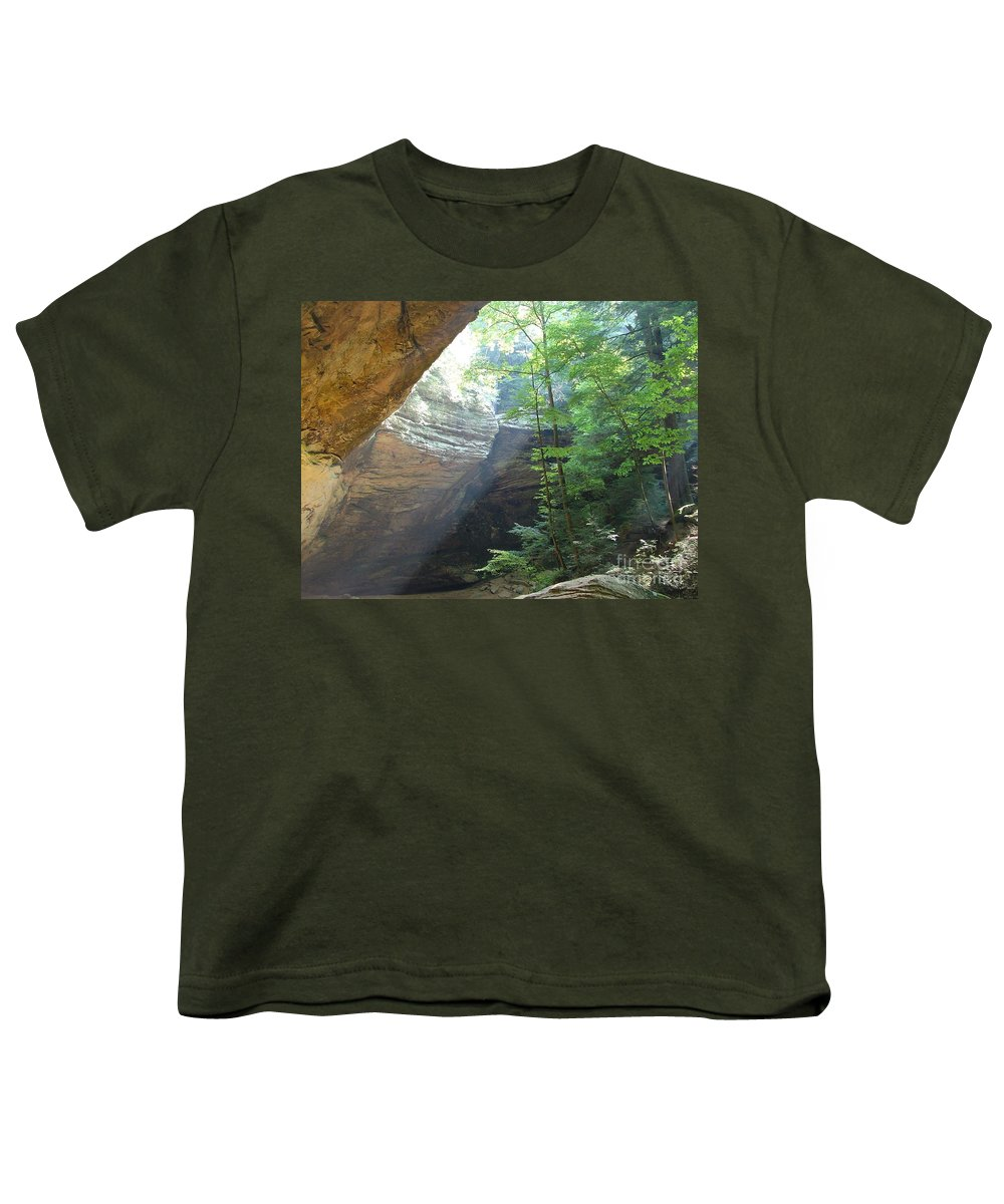 Photograph Youth T-Shirt featuring the photograph Ash Cave by Mindy Newman