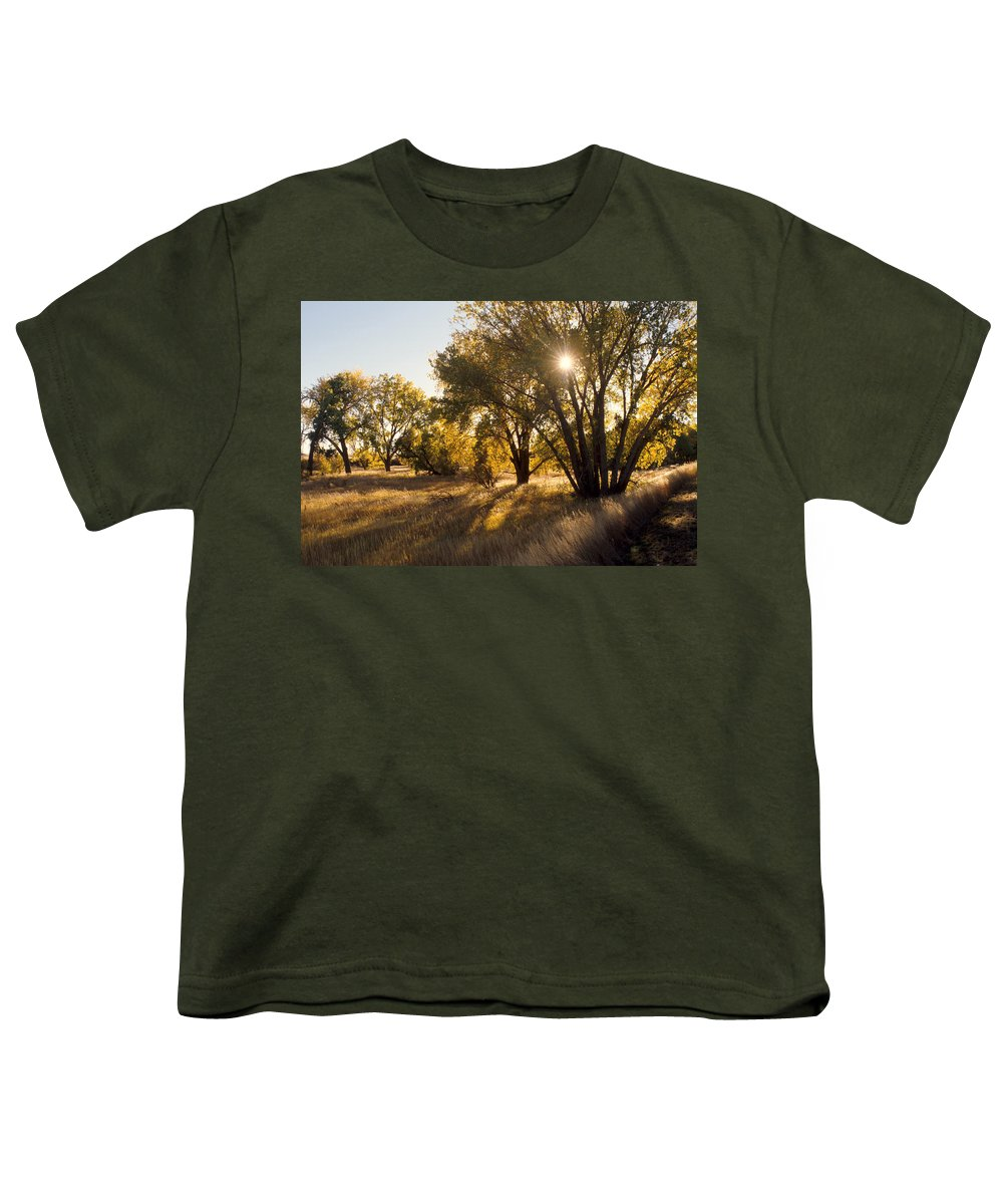 Fall Youth T-Shirt featuring the photograph Autum Sunburst by Jerry McElroy
