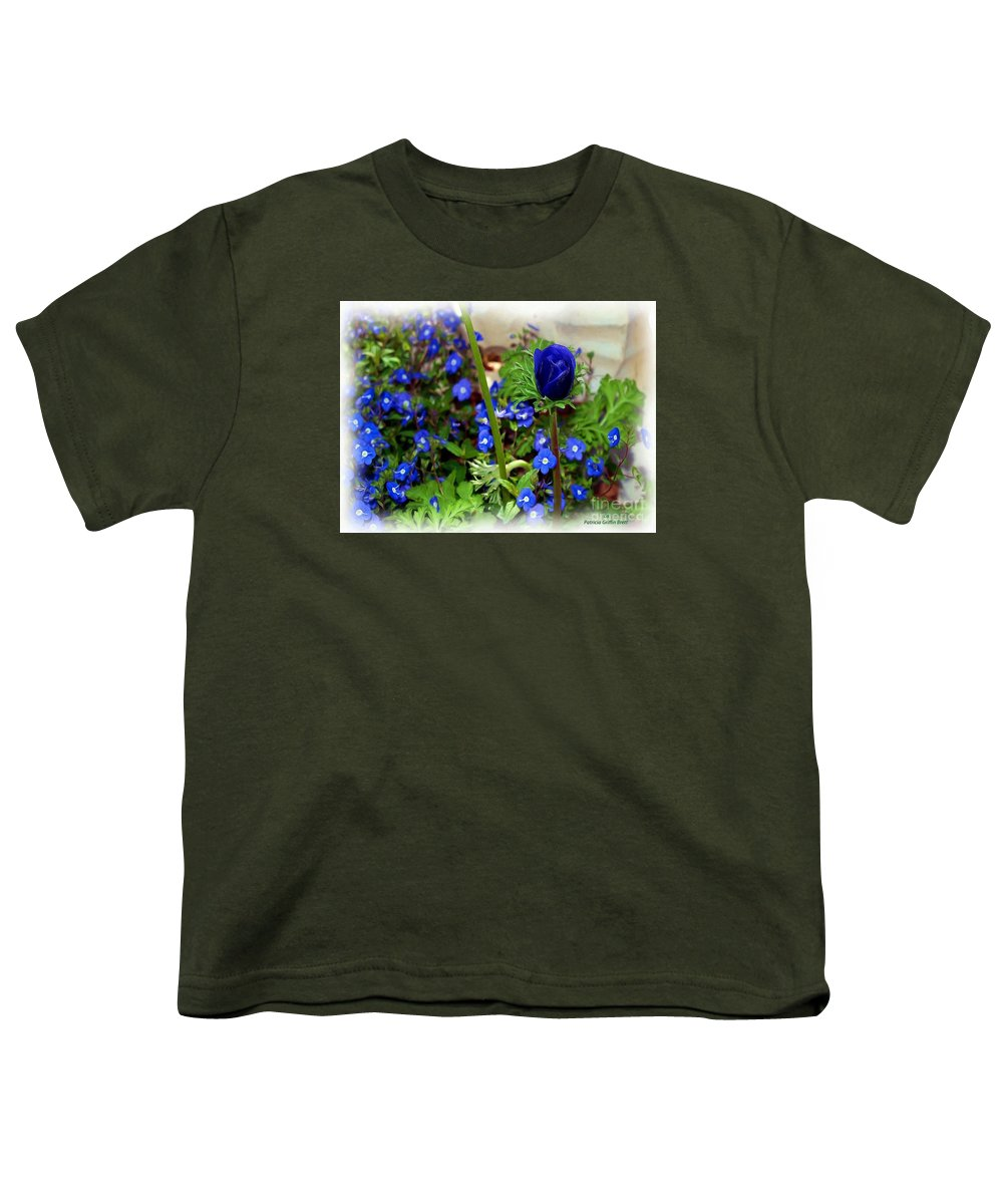 Fine Art Youth T-Shirt featuring the painting Babys Got The Blues by Patricia Griffin Brett