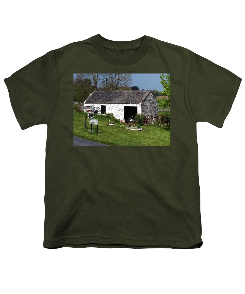 Ireland Youth T-Shirt featuring the photograph Barn At Fuerty Church Roscommon Ireland by Teresa Mucha