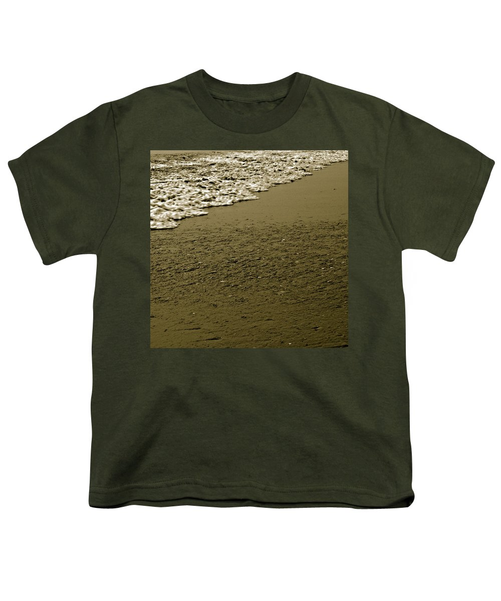 Water Youth T-Shirt featuring the photograph Beach Texture by Jean Macaluso