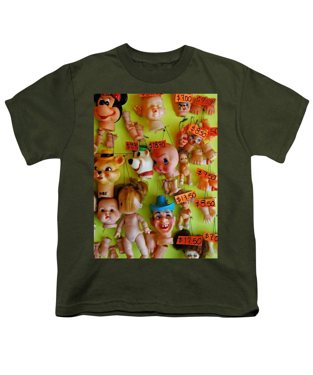 Heads Youth T-Shirt featuring the photograph Black Market Parts by Skip Hunt