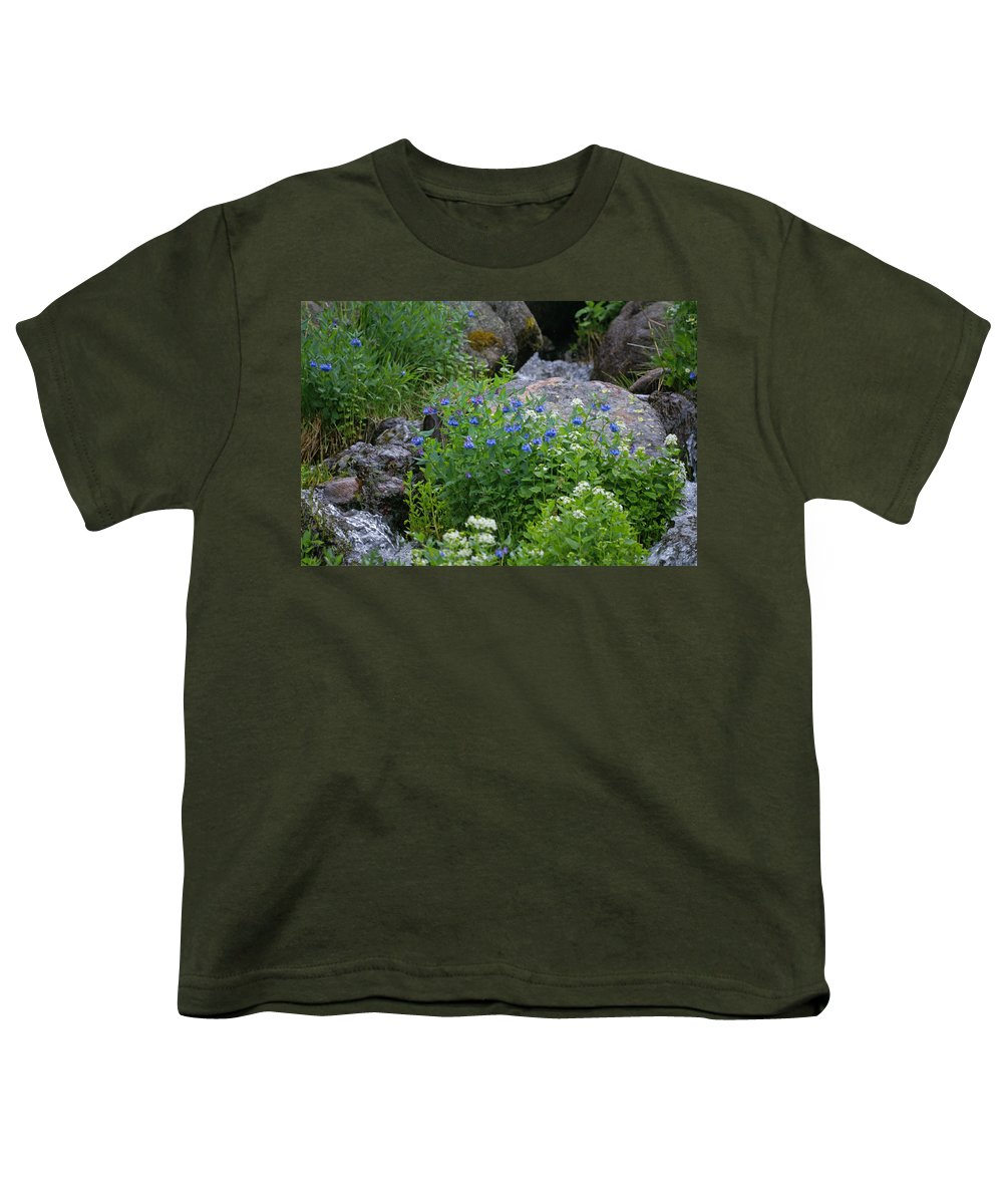 Wildflowers Youth T-Shirt featuring the photograph Bluebells by Heather Coen