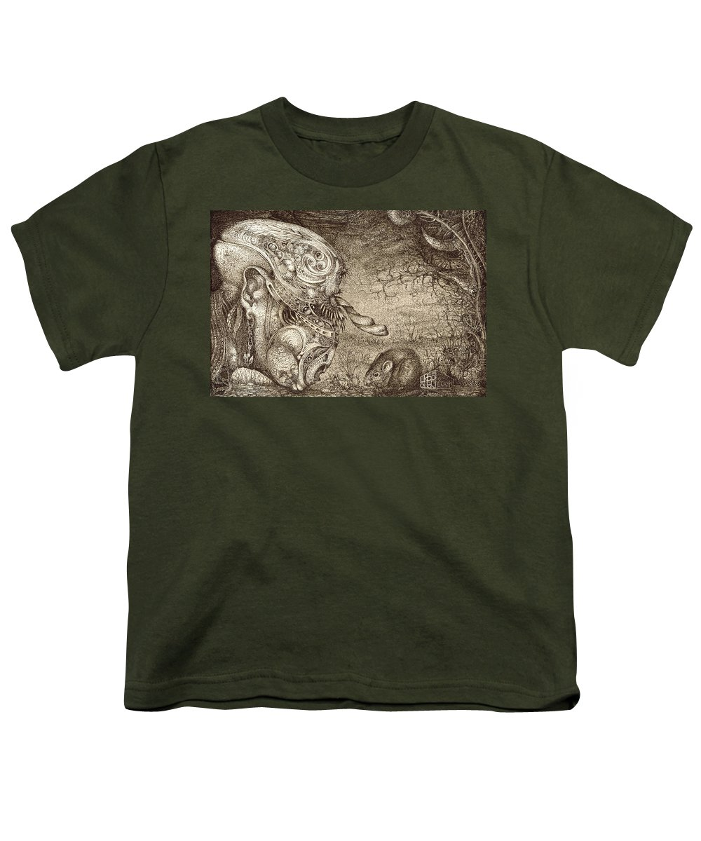 Surreal Youth T-Shirt featuring the drawing Bogomils Mousetrap by Otto Rapp