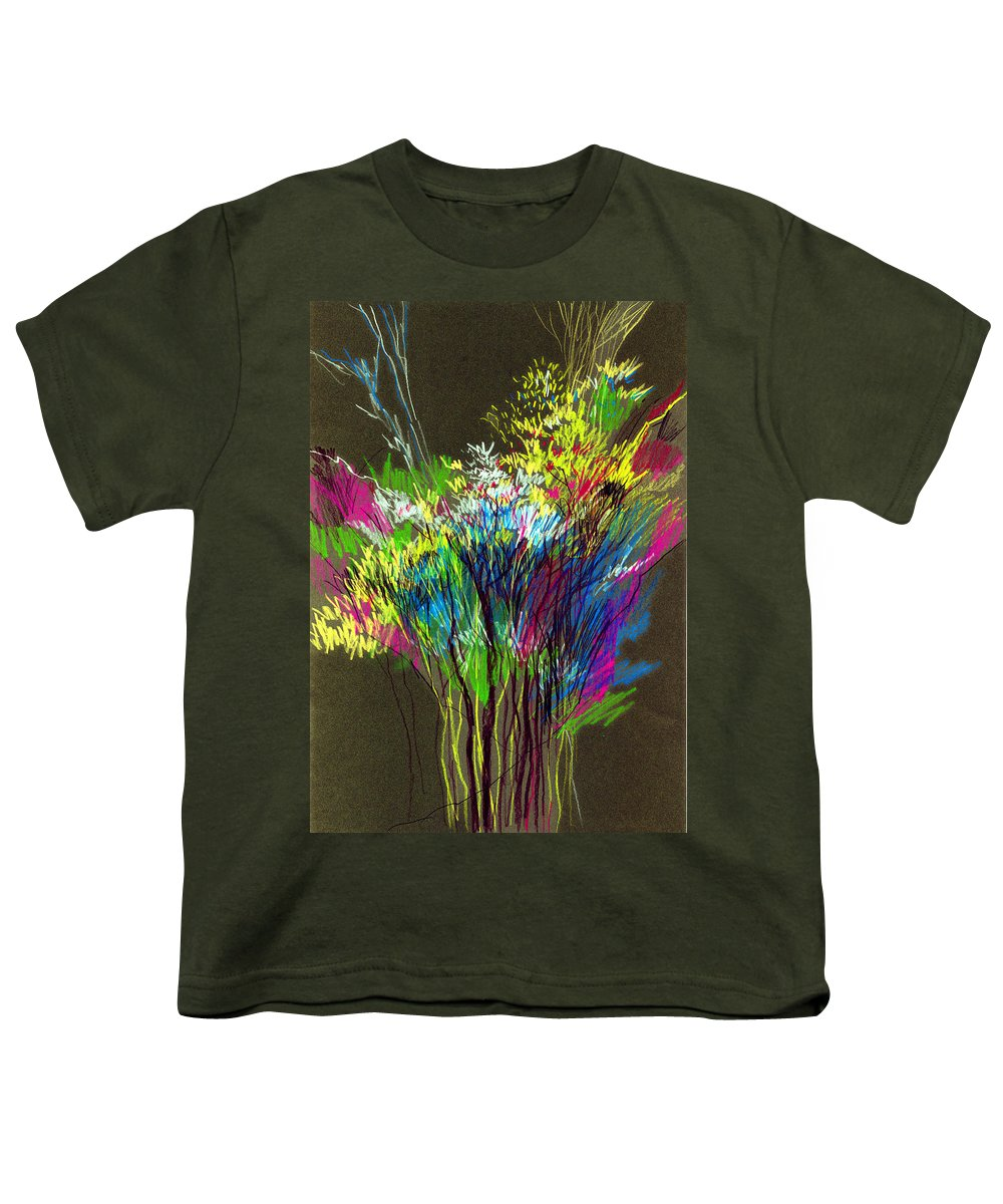 Flowers Youth T-Shirt featuring the painting Bouquet by Anil Nene