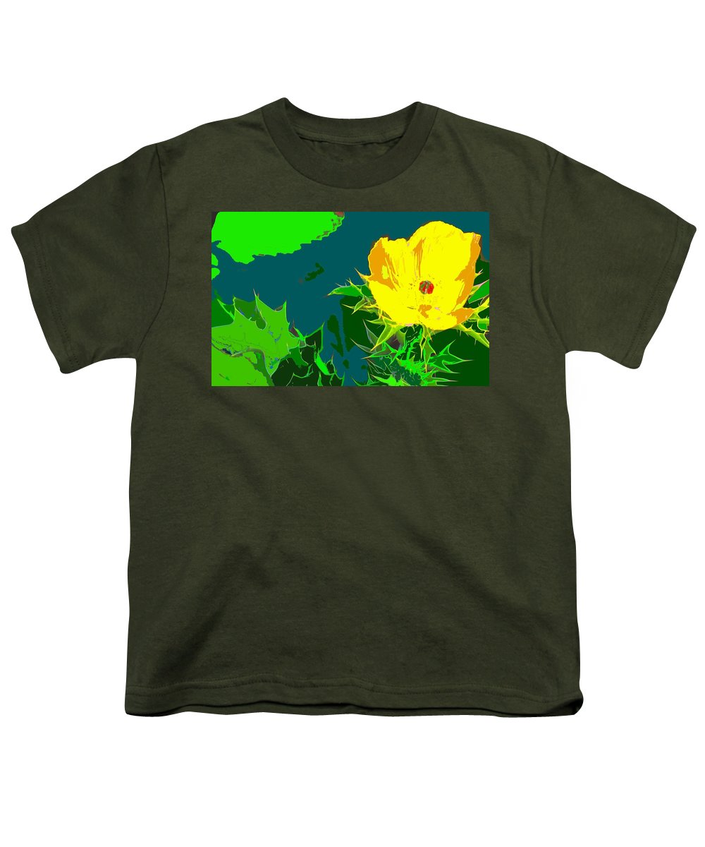 Youth T-Shirt featuring the photograph Brimstone Yellow by Ian MacDonald