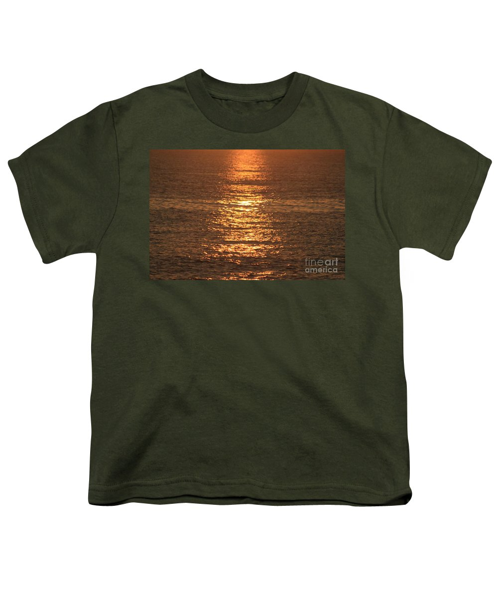 Ocean Youth T-Shirt featuring the photograph Bronze Reflections by Nadine Rippelmeyer