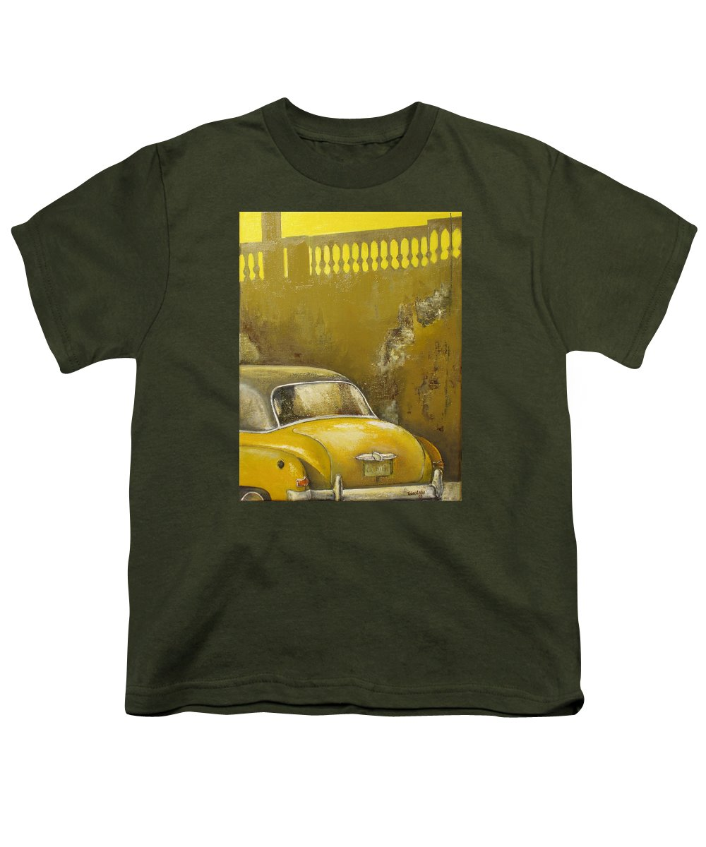 Havana Youth T-Shirt featuring the painting Buscando La Sombra by Tomas Castano