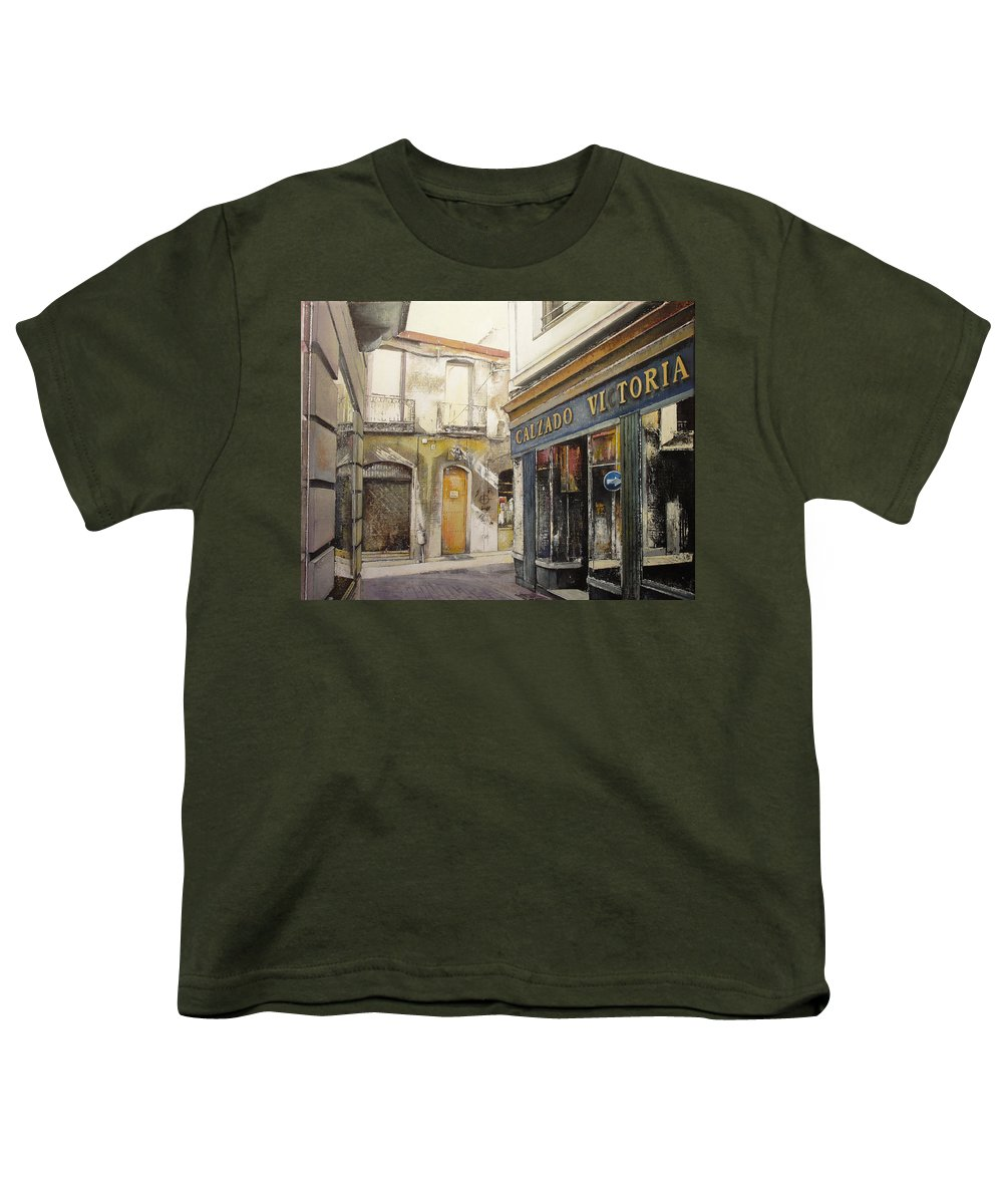 Calzados Youth T-Shirt featuring the painting Calzados Victoria-leon by Tomas Castano