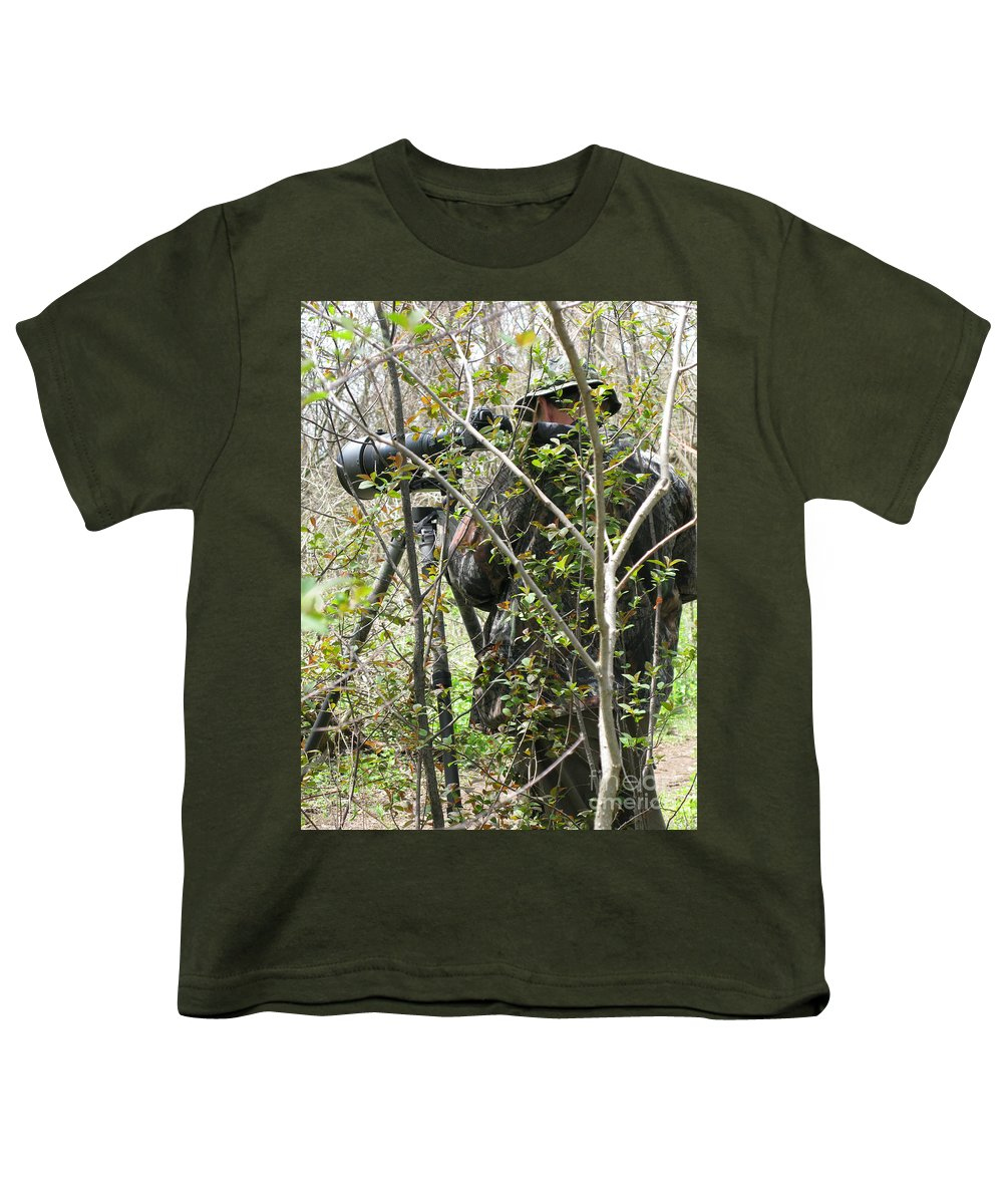 Photographer Youth T-Shirt featuring the photograph Camouflage by Ann Horn