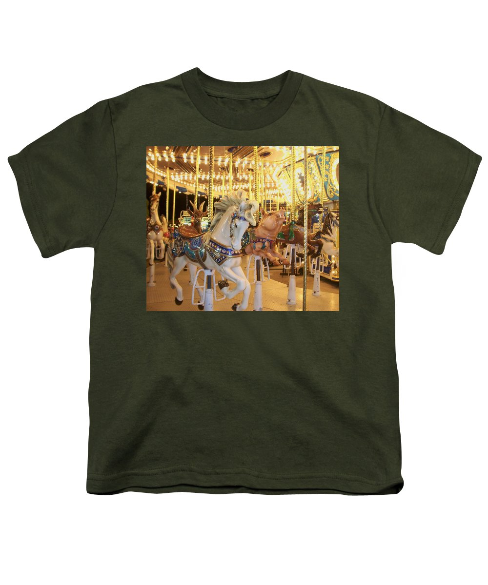 Carosel Horse Youth T-Shirt featuring the photograph Carousel Horse 2 by Anita Burgermeister