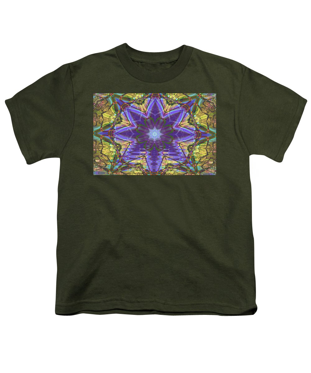 Abstract Youth T-Shirt featuring the digital art Celtic Knot by Frederic Durville