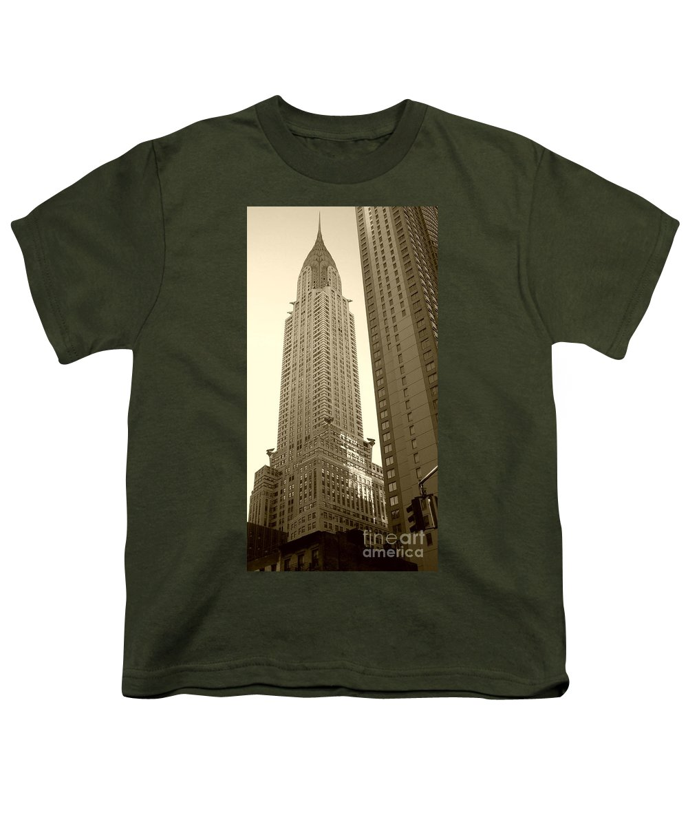 New York Youth T-Shirt featuring the photograph Chrysler Building by Debbi Granruth